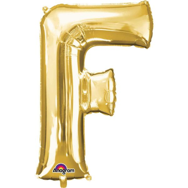 SuperShape Letter F - Gold